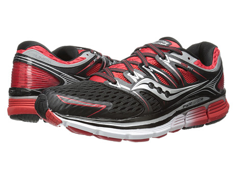Saucony - Triumph ISO (Black/Red) Men's Running Shoes