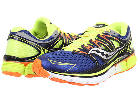 Saucony - Triumph ISO (Blue/Citron/Viziorange) Men's Running Shoes
