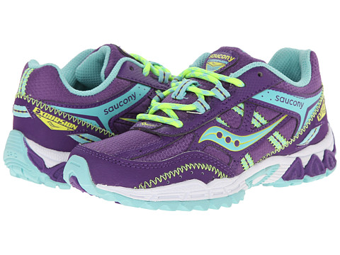 Saucony Kids - Excursion (Little Kid) (Purple/Turquoise/Lime) Girls Shoes