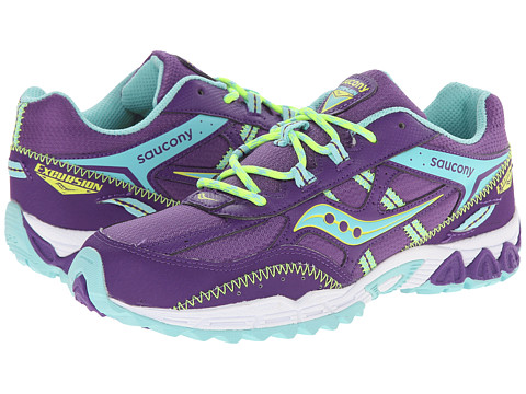Saucony Kids - Excursion (Big Kid) (Purple/Turquoise/Lime) Girls Shoes