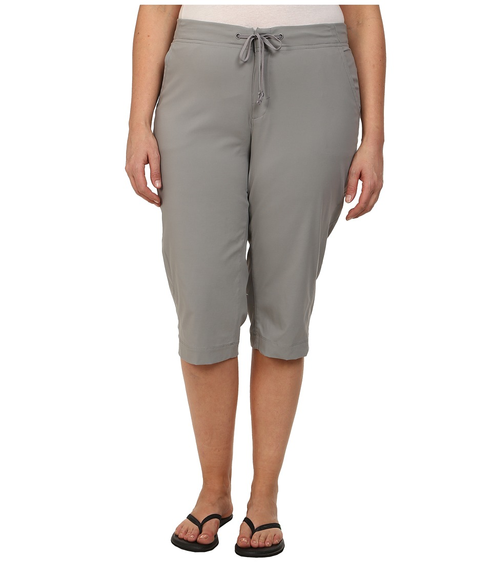 Columbia - Plus Size Anytime Outdoor Capri (Light Grey) Women's Capri