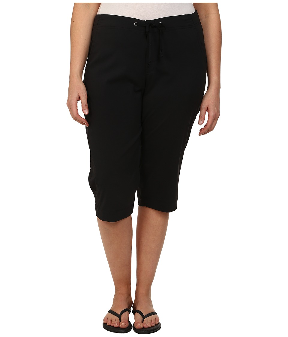 Columbia - Plus Size Anytime Outdoor Capri (Black) Women's Capri