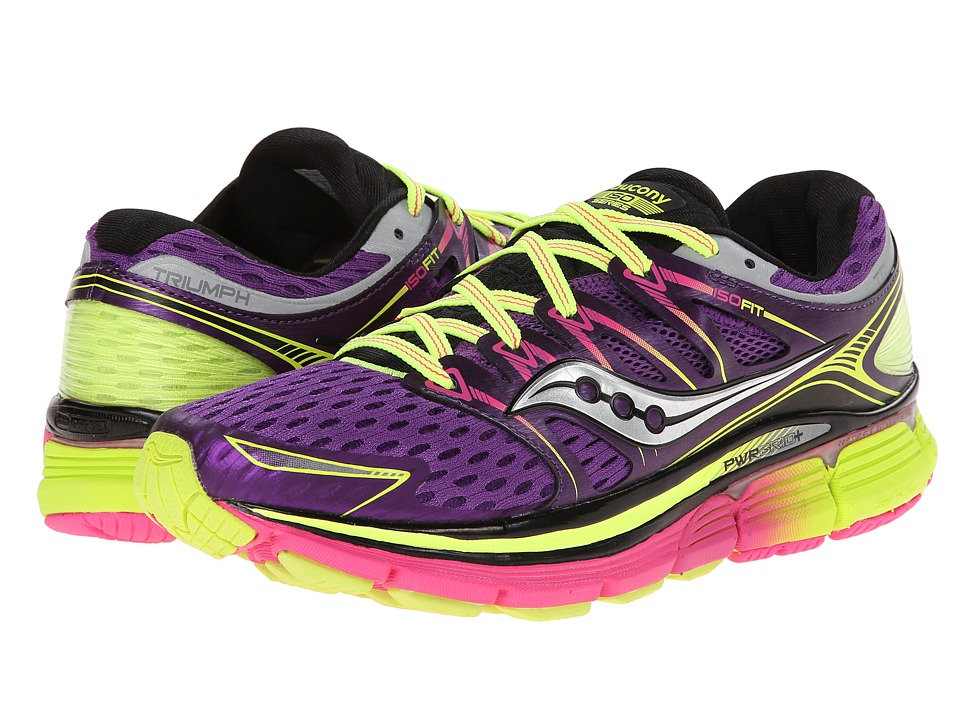 Saucony - Triumph ISO (Purple/Citron/Pink) Women's Running Shoes