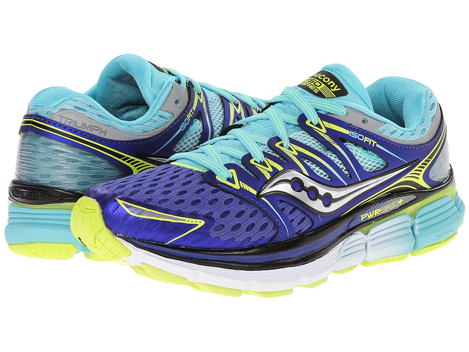 Saucony - Triumph ISO (Twilight/Oxygen/Citron) Women's Running Shoes
