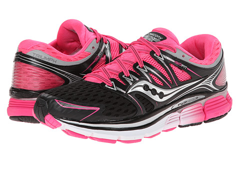 Saucony - Triumph ISO (Black/Pink) Women's Running Shoes