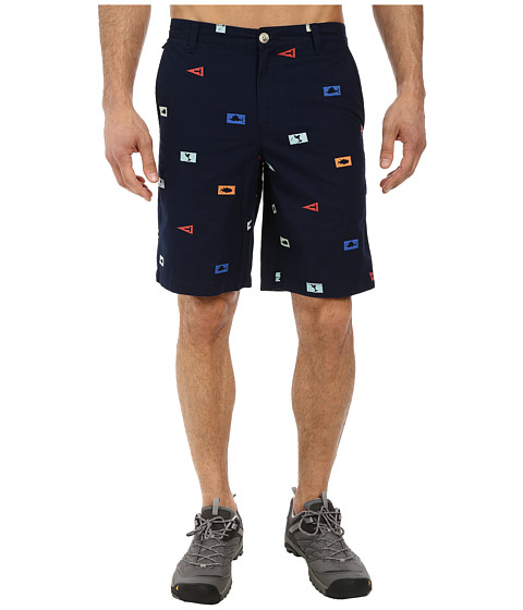 Columbia - Super Bonehead Short (Collegiate Navy Offshore Flags) Men