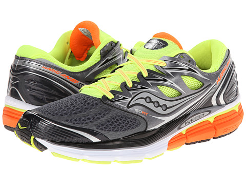 Saucony - Hurricane ISO (Grey/Citron/Orange) Men's Running Shoes