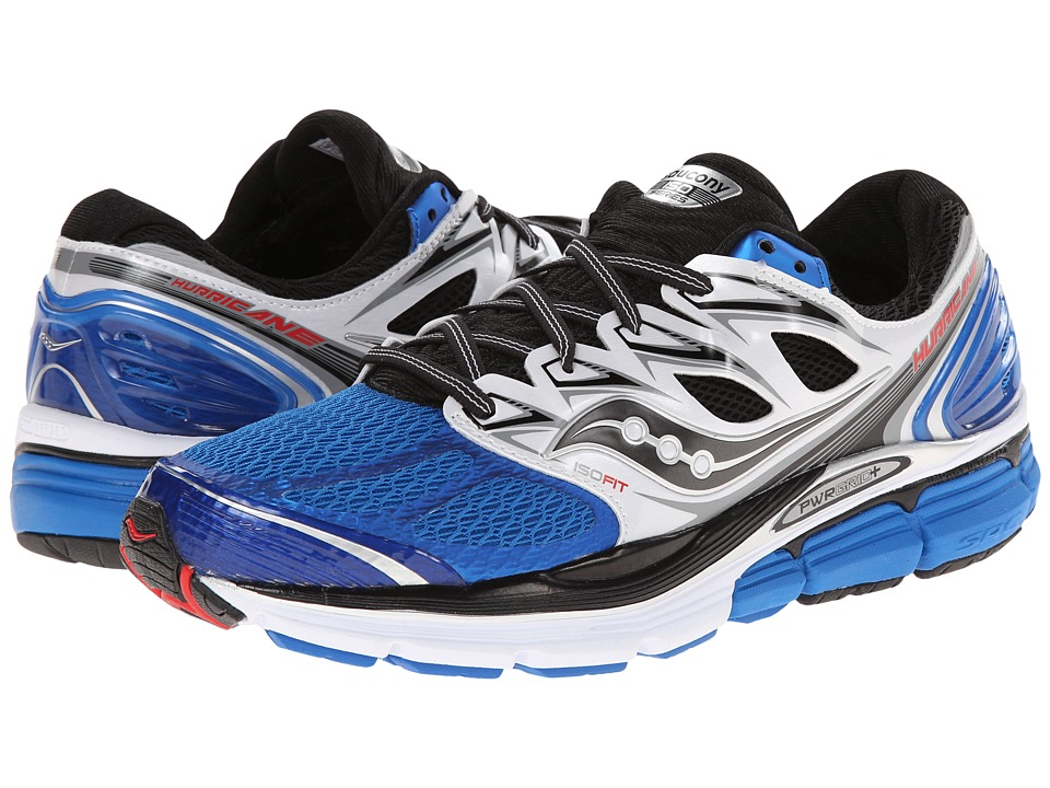 Saucony - Hurricane ISO (Blue/White/Black) Men's Running Shoes