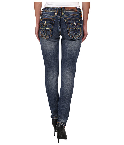 Rock Revival - 34 Jessica S9 Skinny Jean (Dark Blue) Women's Jeans
