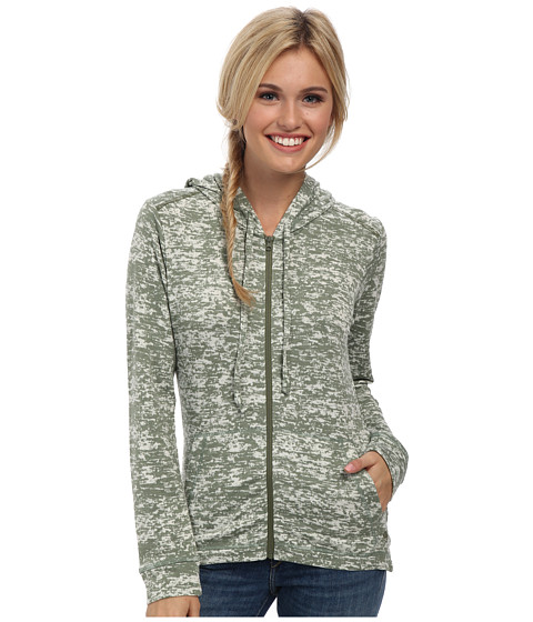 Mountain Hardwear - Burned Out Full Zip Hoody (Verde) Women's Sweatshirt