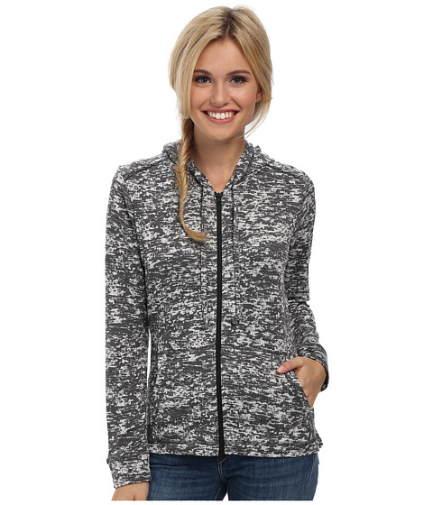 Mountain Hardwear - Burned Out Full Zip Hoody (Graphite) Women