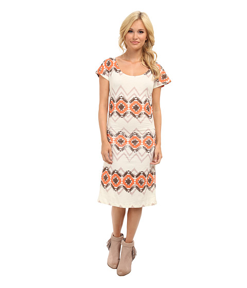 Rock and Roll Cowgirl - Cap Sleeve Dress (Natural) Women