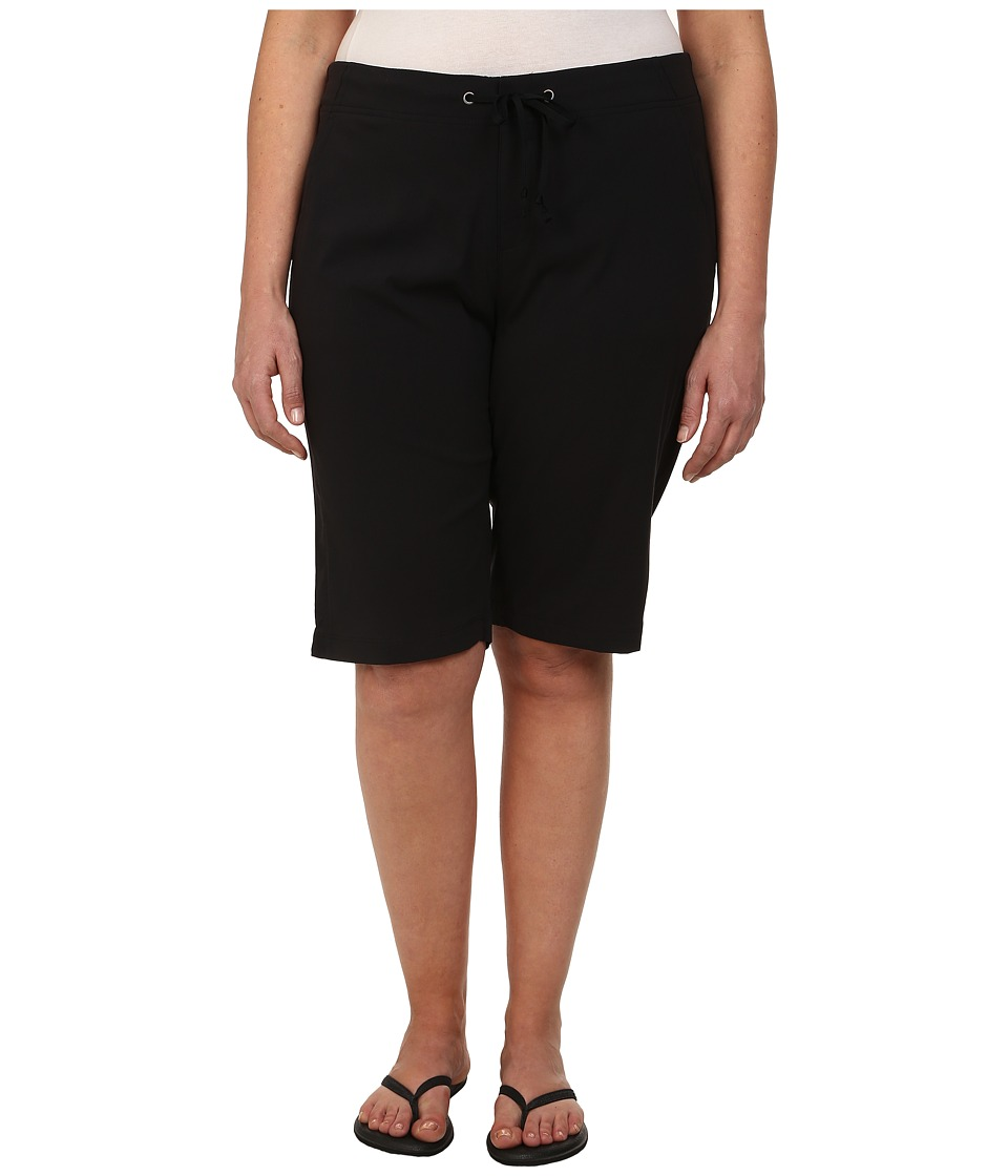 Columbia - Plus Size Anytime Outdoor Long Short (Black) Women's Shorts