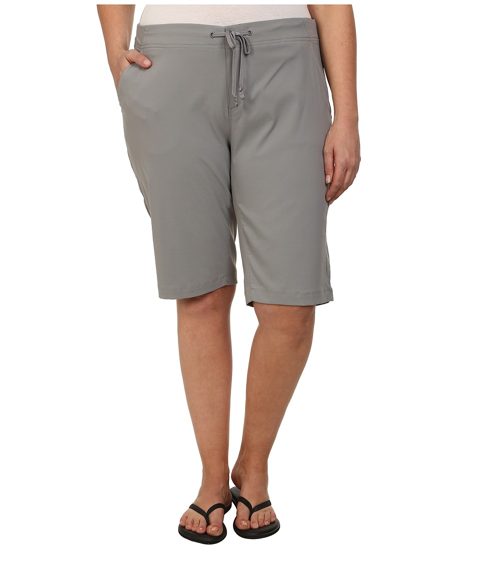 Columbia - Plus Size Anytime Outdoor Long Short (Light Grey) Women's Shorts