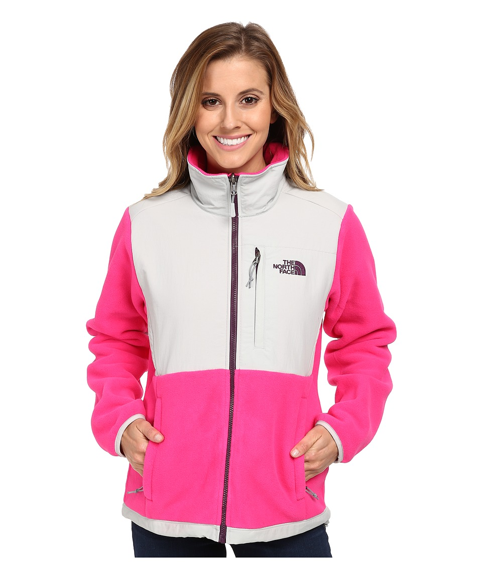 The North Face - Denali Jacket (R Glo Pink/High Rise Grey) Women's Coat