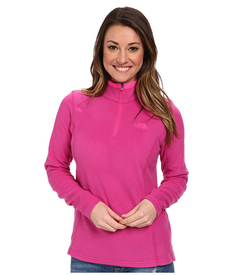 The North Face - Glacier 1/4 Zip (Fuchsia Pink) Women's Sweatshirt