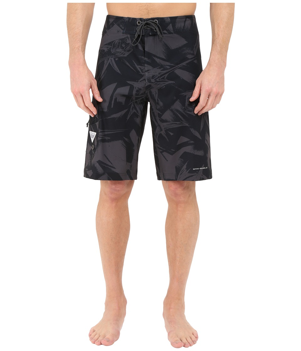 Columbia - PFG Offshore Boardshort (Black Brushstroke Gamefish) Men's Swimwear