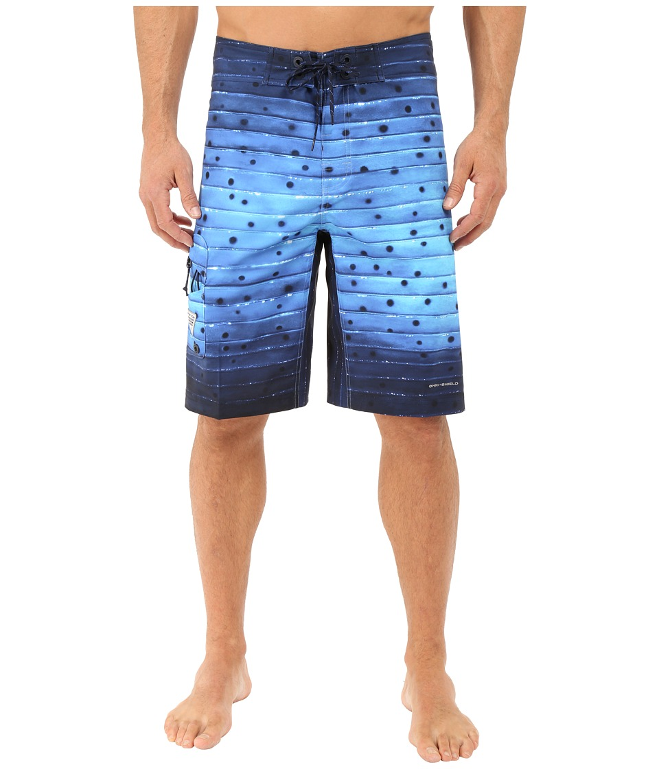 Columbia - PFG Offshore Boardshort (Vivid Blue Billfish Stripe) Men's Swimwear