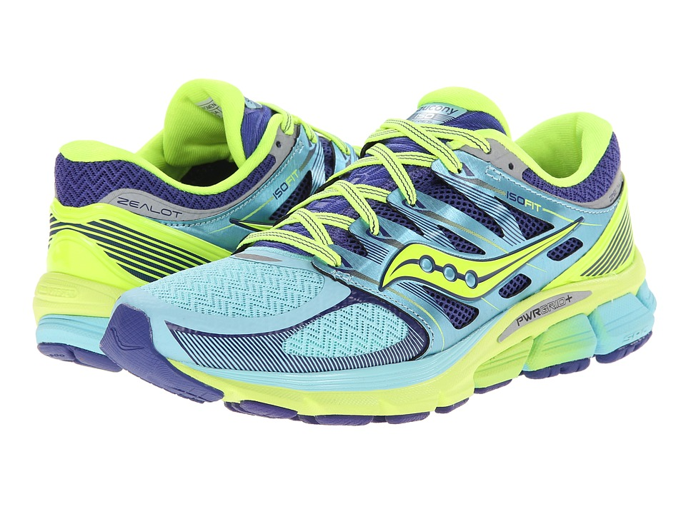 Saucony - Zealot ISO (Oxygen/Twilight/Citron) Women's Running Shoes