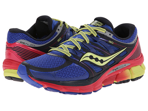 Saucony - Zealot ISO (Navy/Pink/Lime) Women's Running Shoes