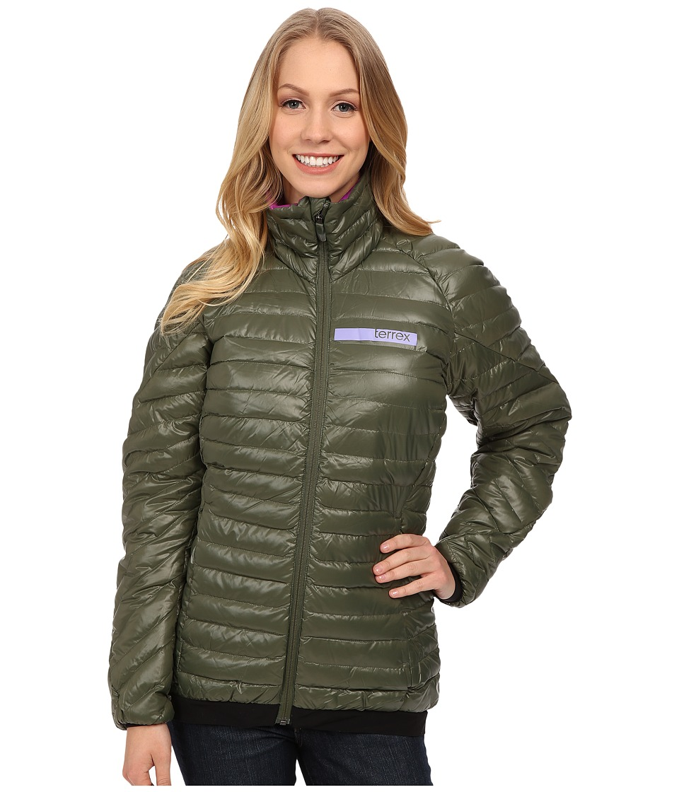 adidas Outdoor - Terrex Downblaze Jacket (Base Green) Women's Jacket
