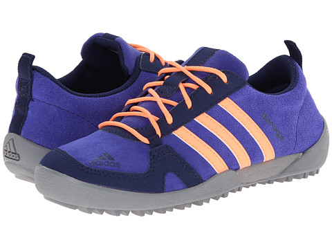 adidas Outdoor Kids - Daroga Leather (Little Kid/Big Kid) (Semi Night Flash/Flash Orange/Mid Grey) Girls Shoes
