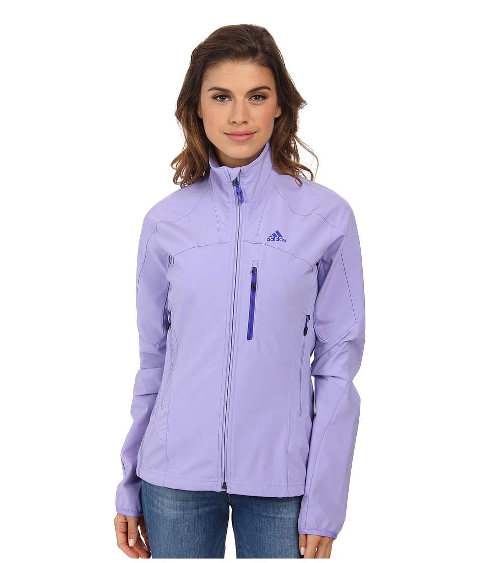 adidas Outdoor - Terrex Swift Soft Shell Jacket (Light Purple) Women's Coat