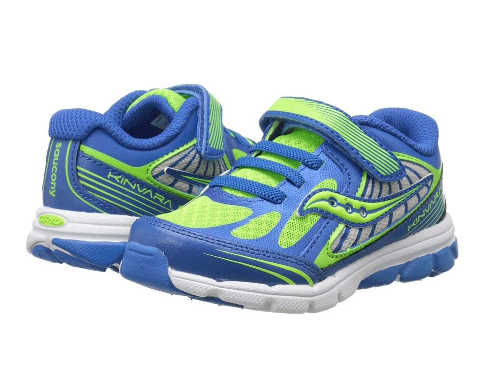 Saucony Kids - Kinvara 5 (Toddler/Little Kid) (Blue/Green) Boys Shoes