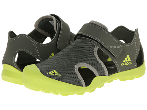 adidas Outdoor Kids - Captain Toey (Toddler/Little Kid/Big Kid) (Base Green/Semi Solar Yellow/Tech Beige) Boys Shoes