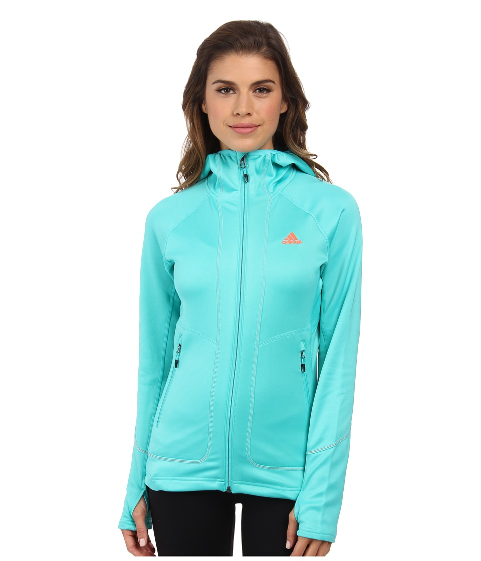 adidas Outdoor - Terrex Swift Pordoi Fleece (Vivid Mint) Women's Coat