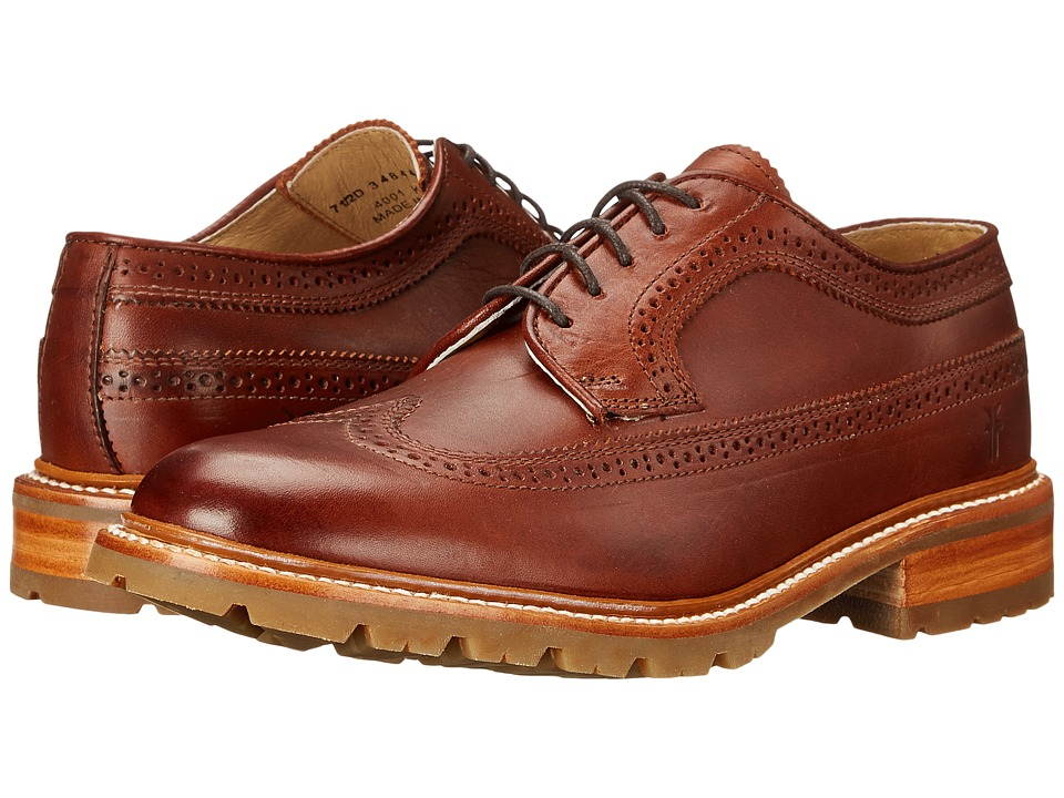 Frye - James Lug Wingtip (Redwood Smooth Full Grain) Men's Lace Up Wing Tip Shoes