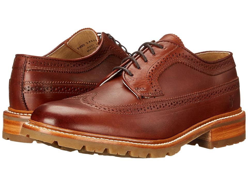 Frye - James Lug Wingtip (Redwood Smooth Full Grain) Men's Lace Up Wing Tip Shoes