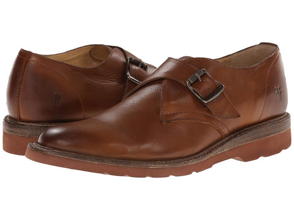 Frye Jim Wedge Monk (Cognac Soft Vintage Leather) Men