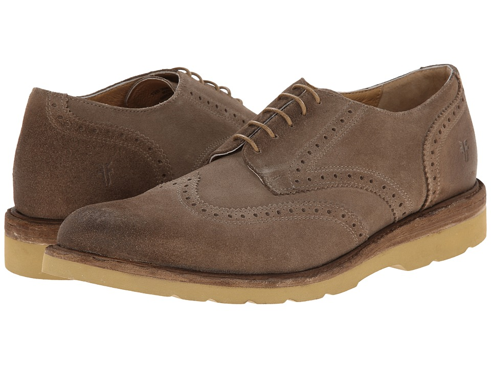 Frye - Jim Wedge Wingtip (Grey Oiled Suede) Men's Lace Up Wing Tip Shoes