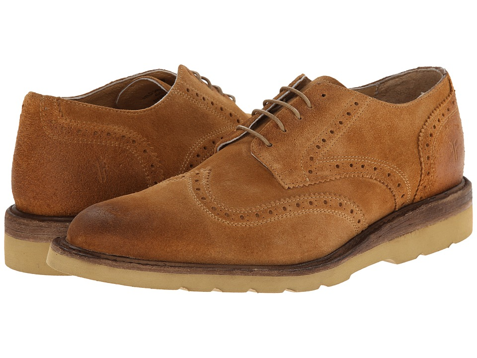 Frye - Jim Wedge Wingtip (Wheat Oiled Suede) Men's Lace Up Wing Tip Shoes