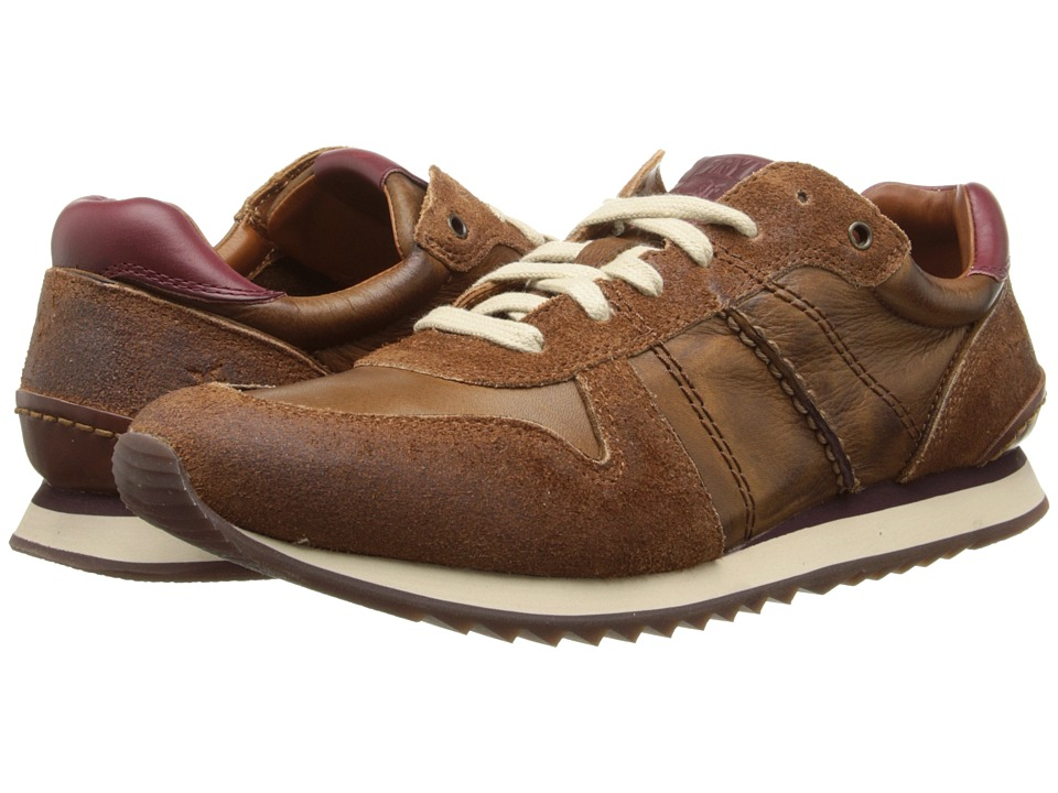 Frye - Kane Runner (Cognac Soft Vintage Leather/Suede) Men's Lace up casual Shoes