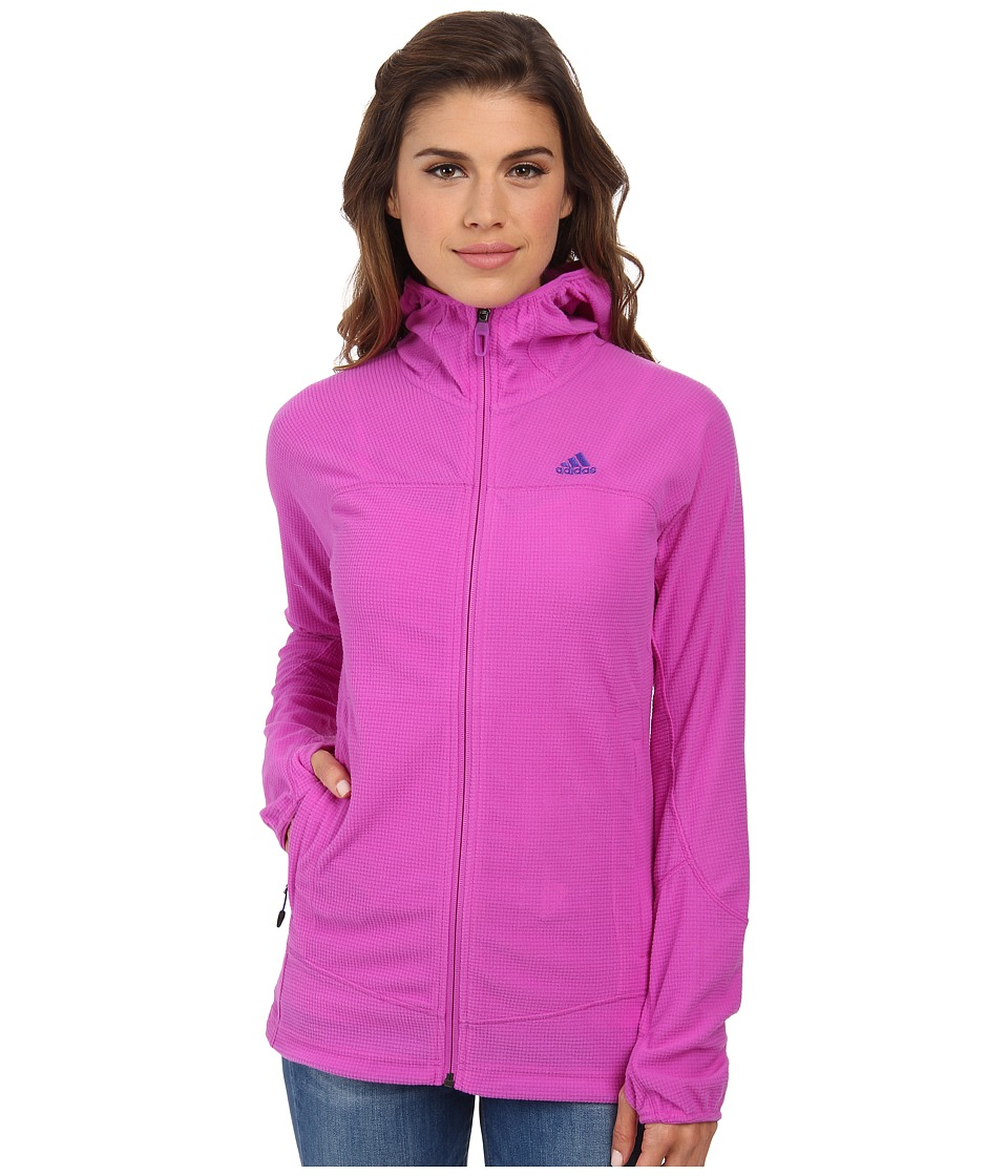adidas Outdoor - Terrex Swift 37.5 Fleece Hoodie (Flash Pink) Women's Fleece