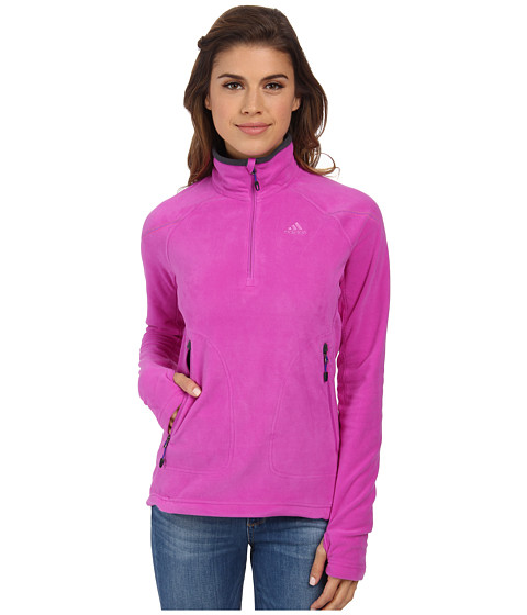 adidas Outdoor - Hiking Reachout Pull Over Fleece (Flash Pink) Women
