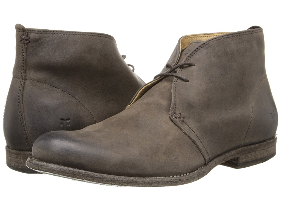 Frye - Phillip Chukka (Chocolate Pressed Nubuck) Men's Lace-up Boots