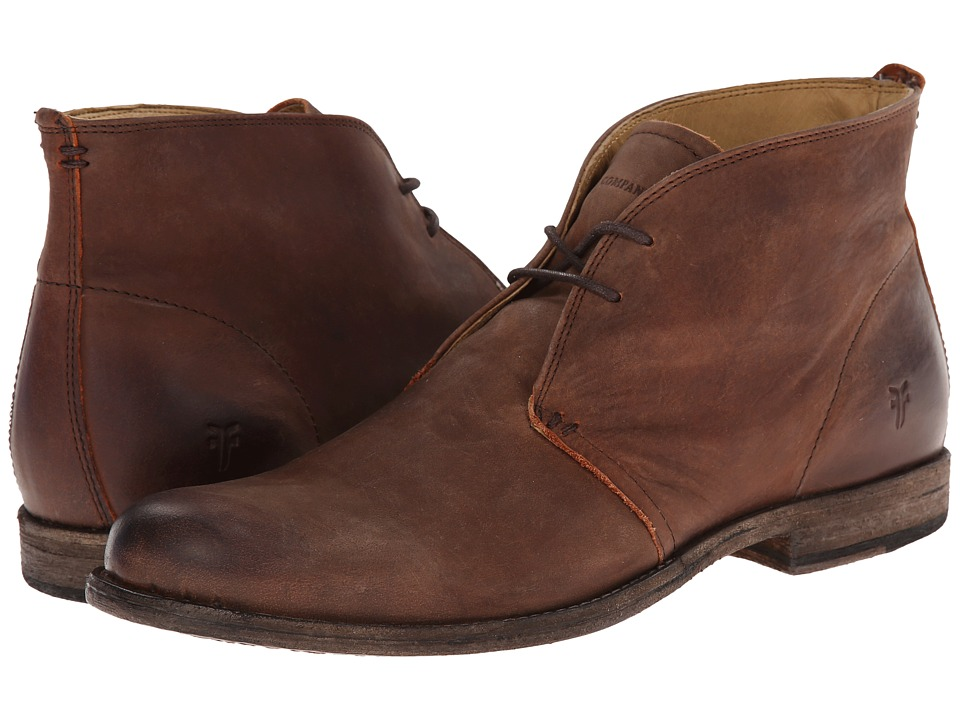 Frye - Phillip Chukka (Cognac Pressed Nubuck) Men's Lace-up Boots