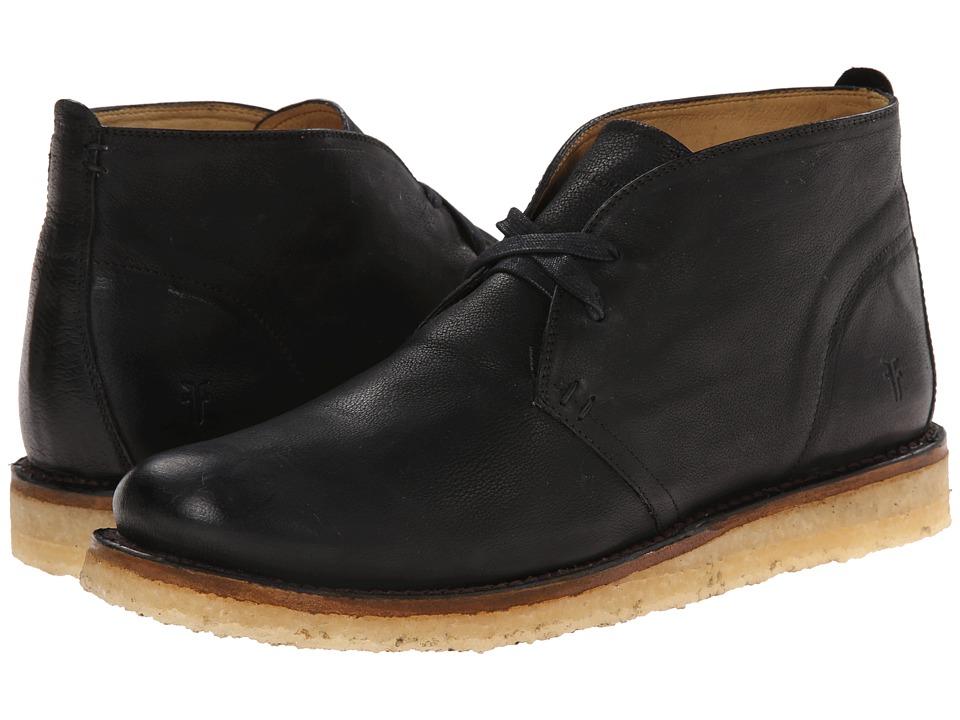 Frye - Phillip Crepe Chukka (Black Buffalo Nubuck) Men's Lace-up Boots