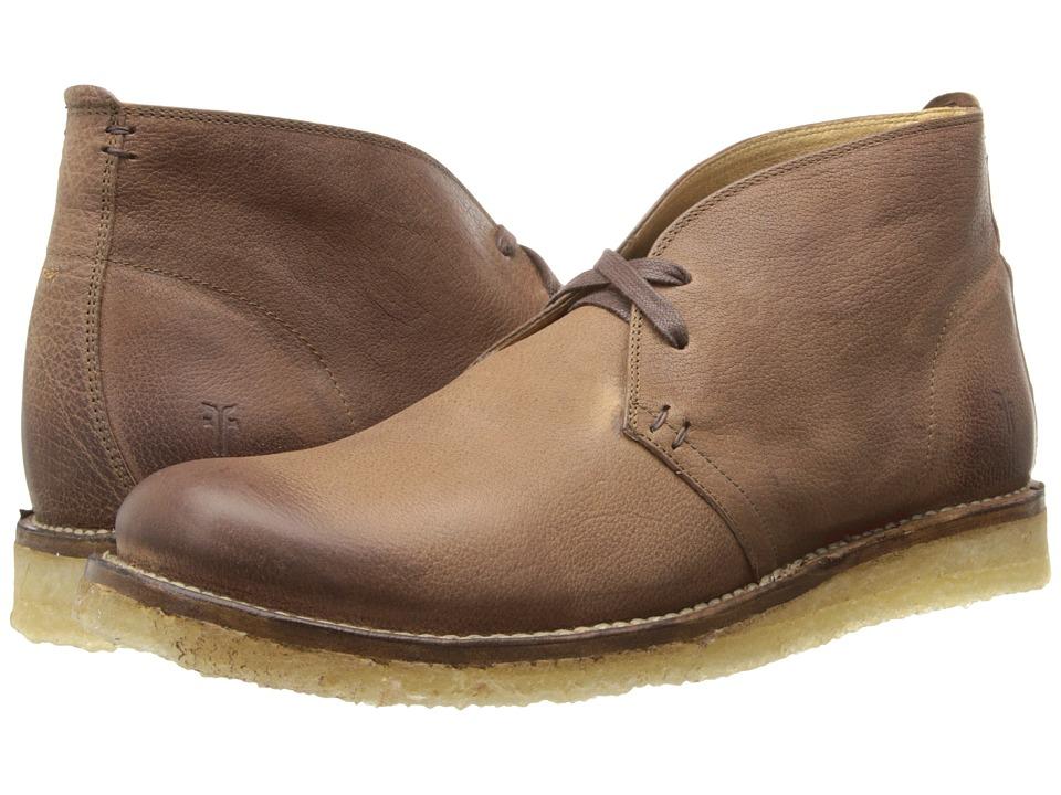 Frye - Phillip Crepe Chukka (Cognac Buffalo Nubuck) Men's Lace-up Boots
