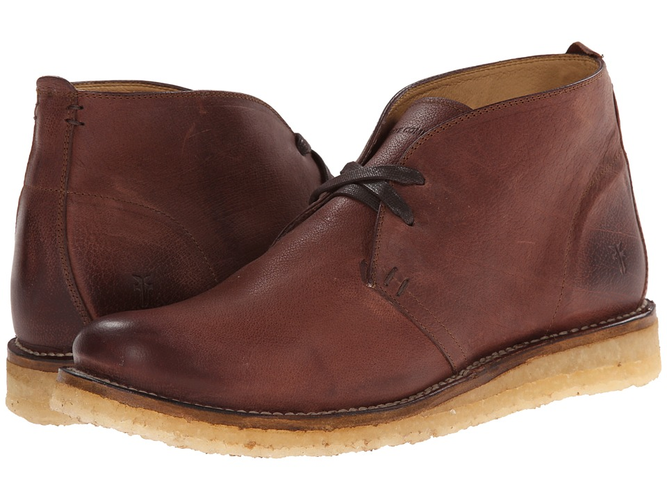 Frye Phillip Crepe Chukka Redwood Buffalo Nubuck Mens Lace-up Boots