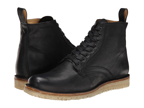 Frye - Phillip Crepe Lace Up (Black Buffalo Nubuck) Men's Lace-up Boots