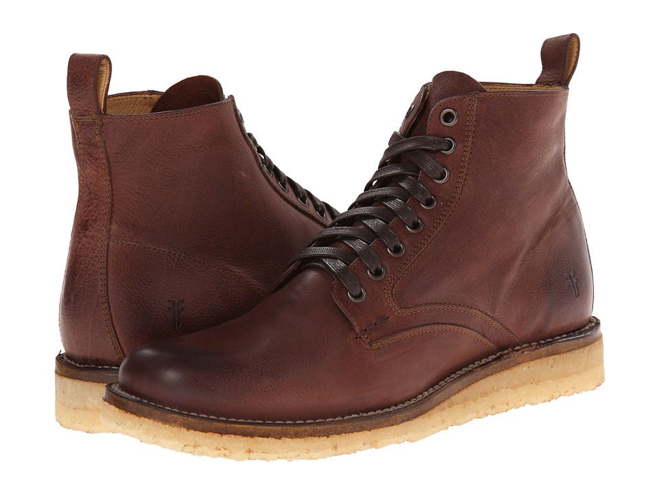 Frye Phillip Crepe Lace Up (Redwood Buffalo Nubuck) Men