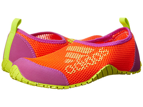 adidas Outdoor Kids - Kurobe (Toddler/Little Kid/Big Kid) (Semi Solar Red/Semi Solar Yellow/Flash Pink) Girls Shoes