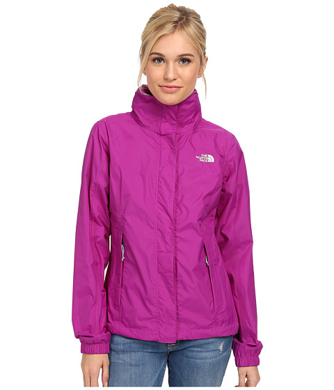 The North Face - Resolve Jacket (Magic Magenta/High Rise Grey) Women