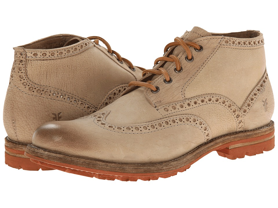 Frye - Phillip Lug Wingtip Chukka (Cement Textured Full Grain) Men's Lace Up Wing Tip Shoes