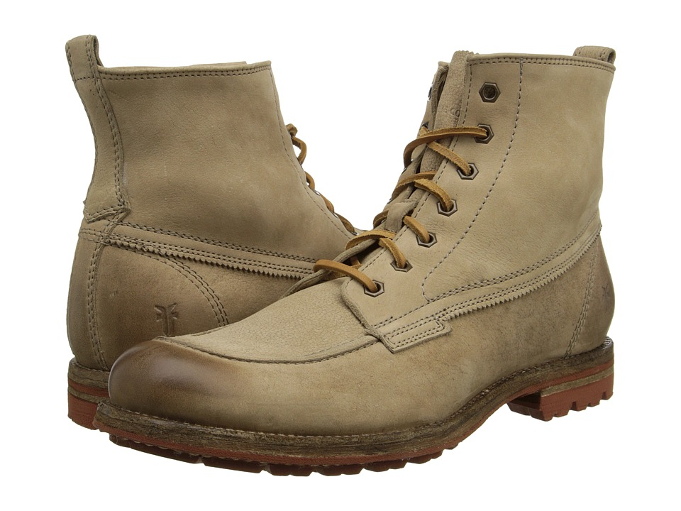 Frye - Phillip Lug Workboot (Cement Textured Full Grain) Men's Work Lace-up Boots