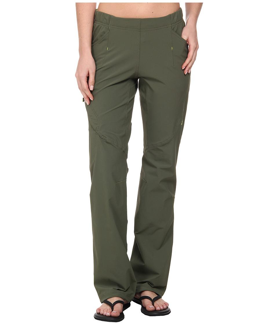 adidas Outdoor - Hiking Pack-It Pant (Base Green) Women